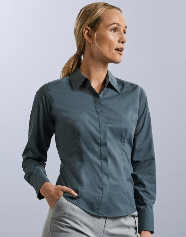 Tailored / Fitted Poplin Shirts Women