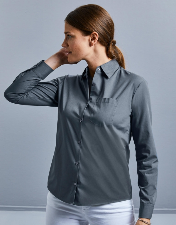 Polycotton Easy Care Poplin Shirts Women