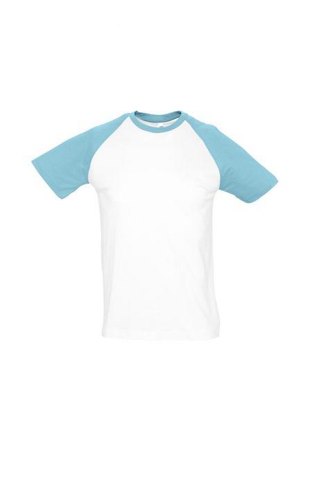 White / Atoll Blue