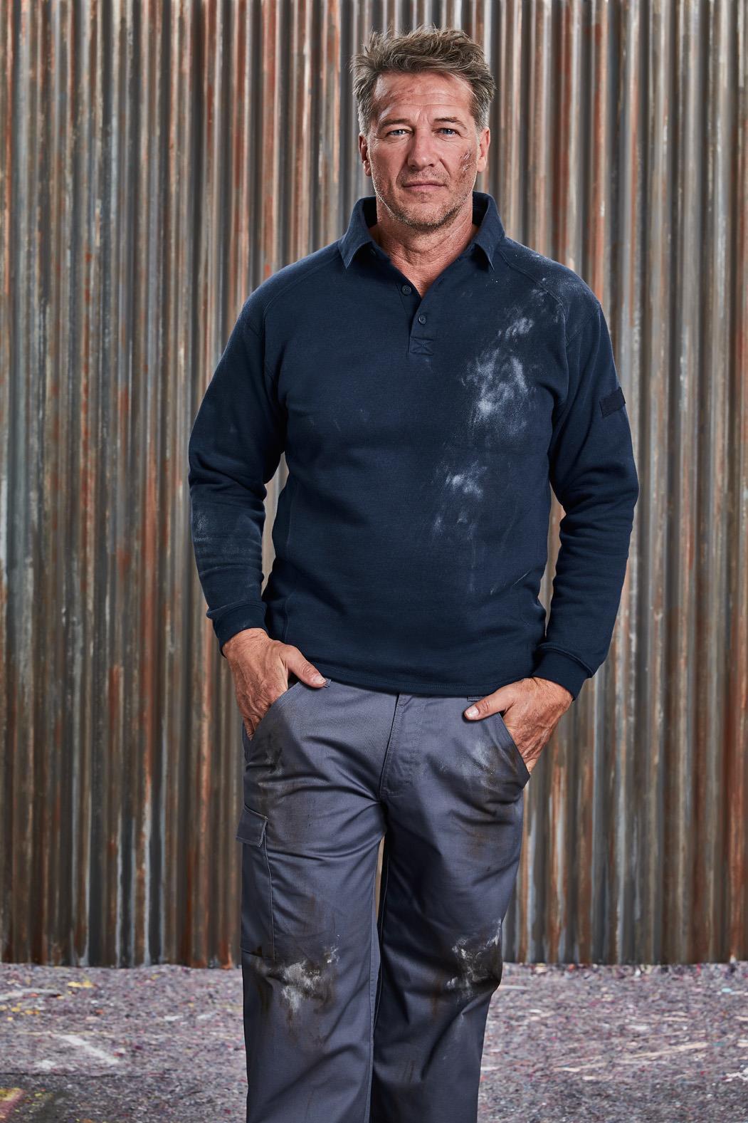 Heavy Duty Collar Sweatshirt Unisex