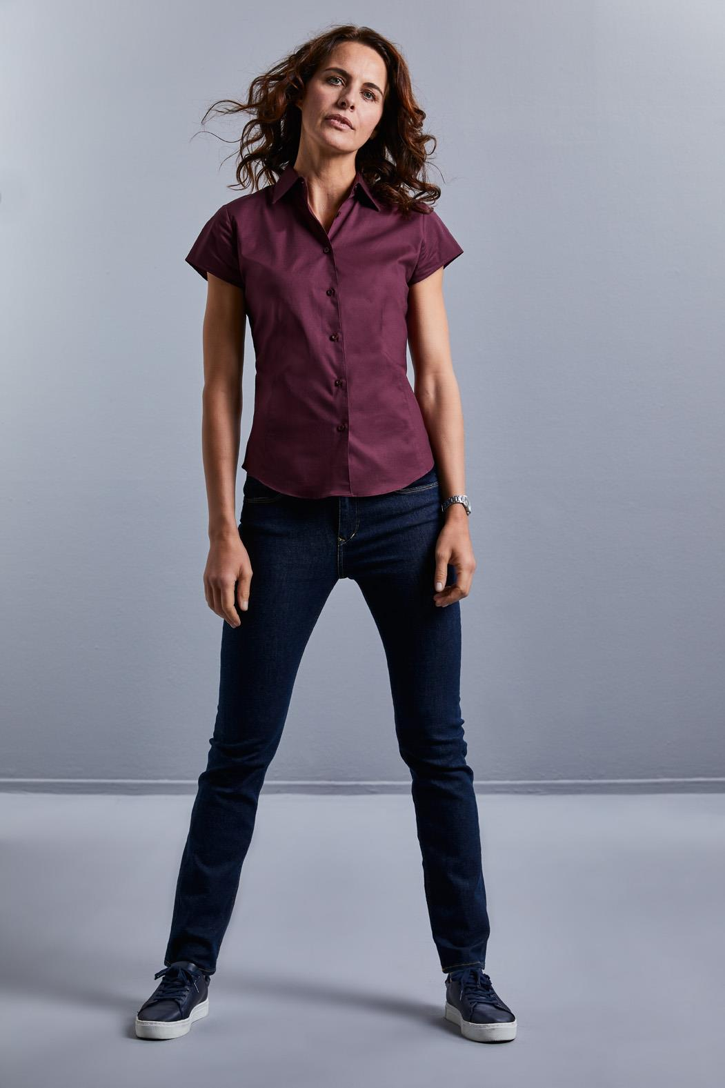 Fitted Stretch Shirts Women