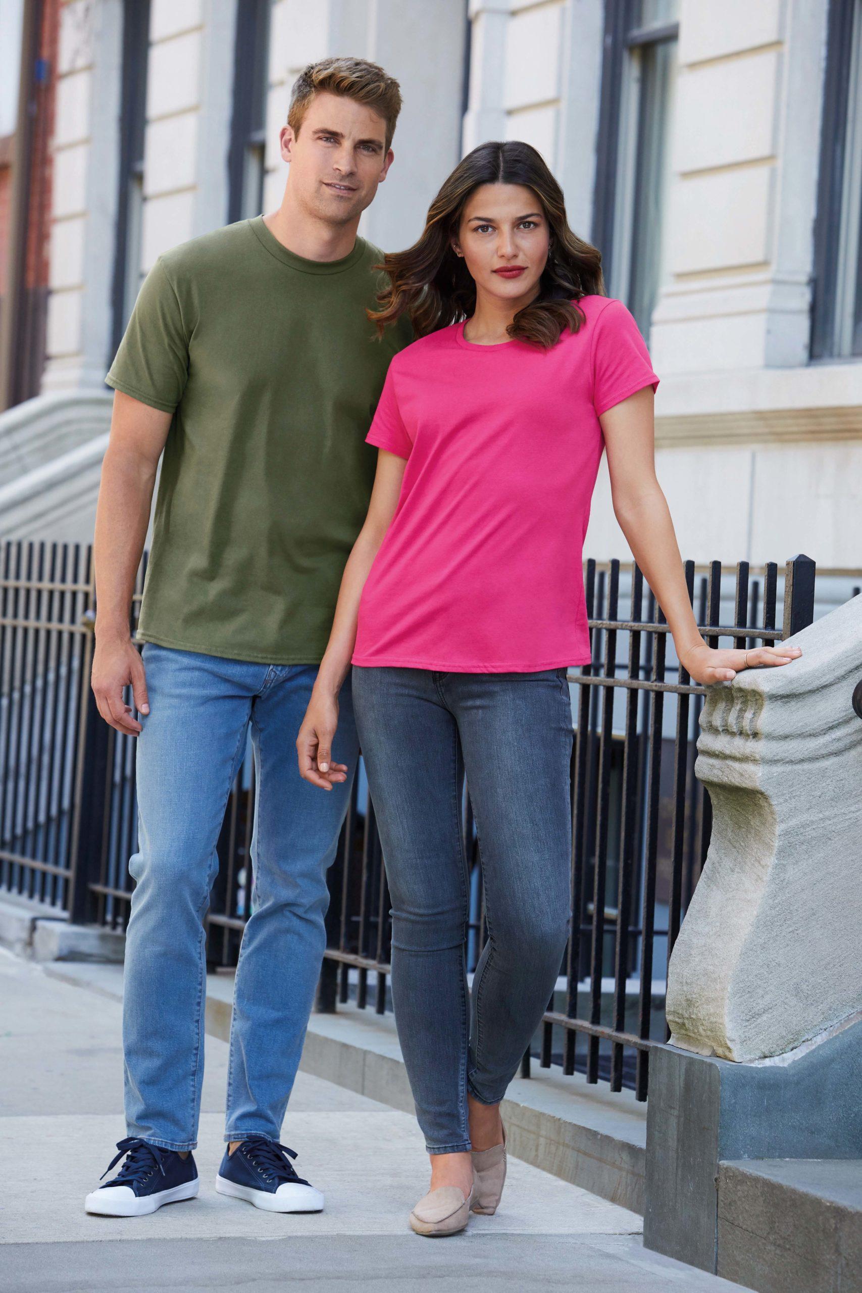 T-shirt Premium Cotton Crewneck Women