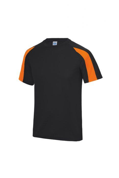 Jet Black / Electric Orange