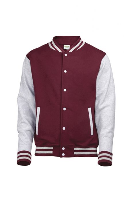 Burgundy / Heather Grey