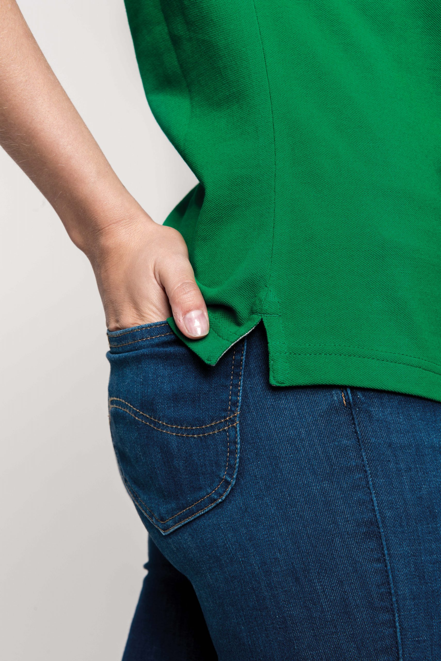 Polo Met Contrasterende Details en Korte Mouwen Women