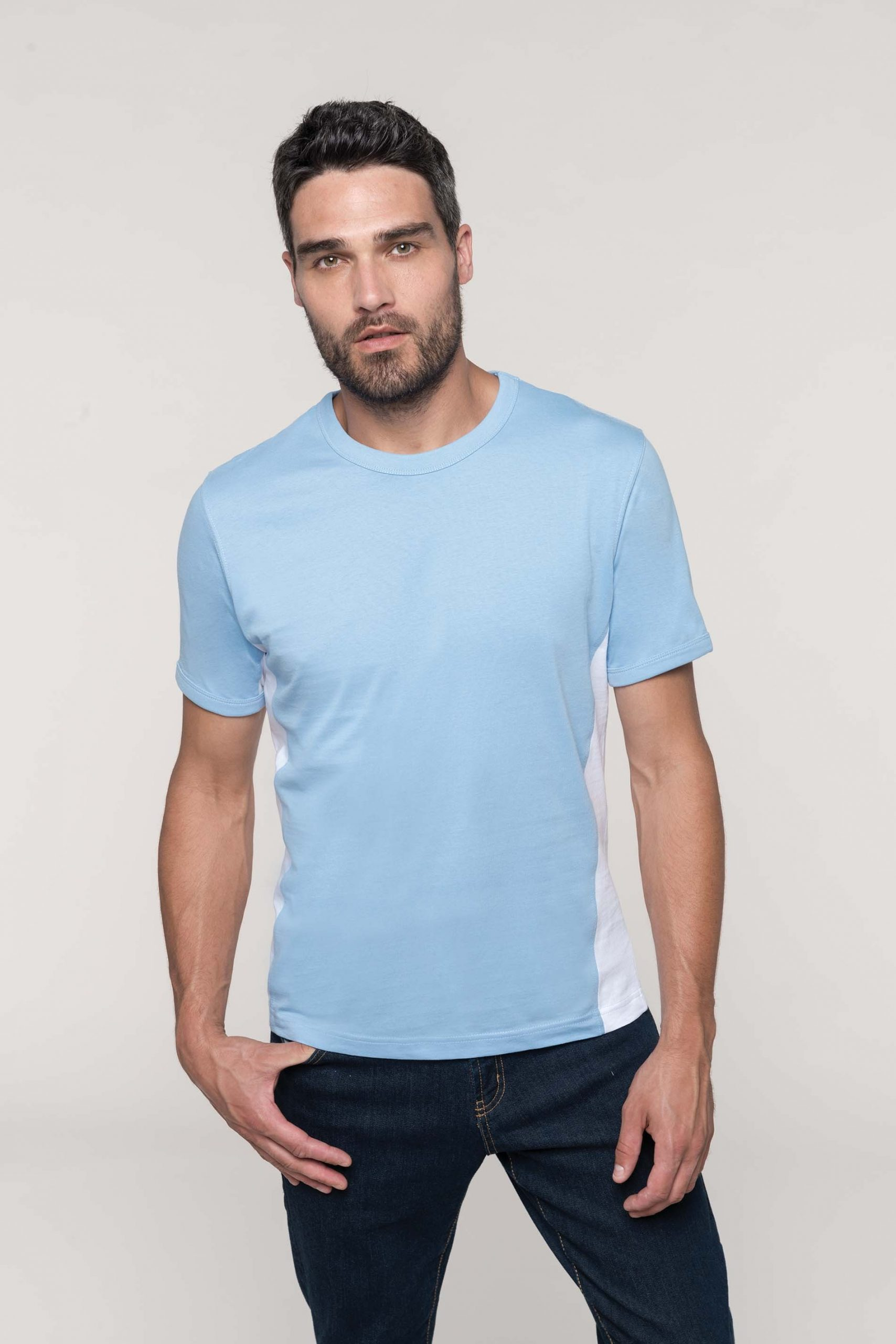 Tiger - Short Sleeve Bi-colour T-shirt Unisex