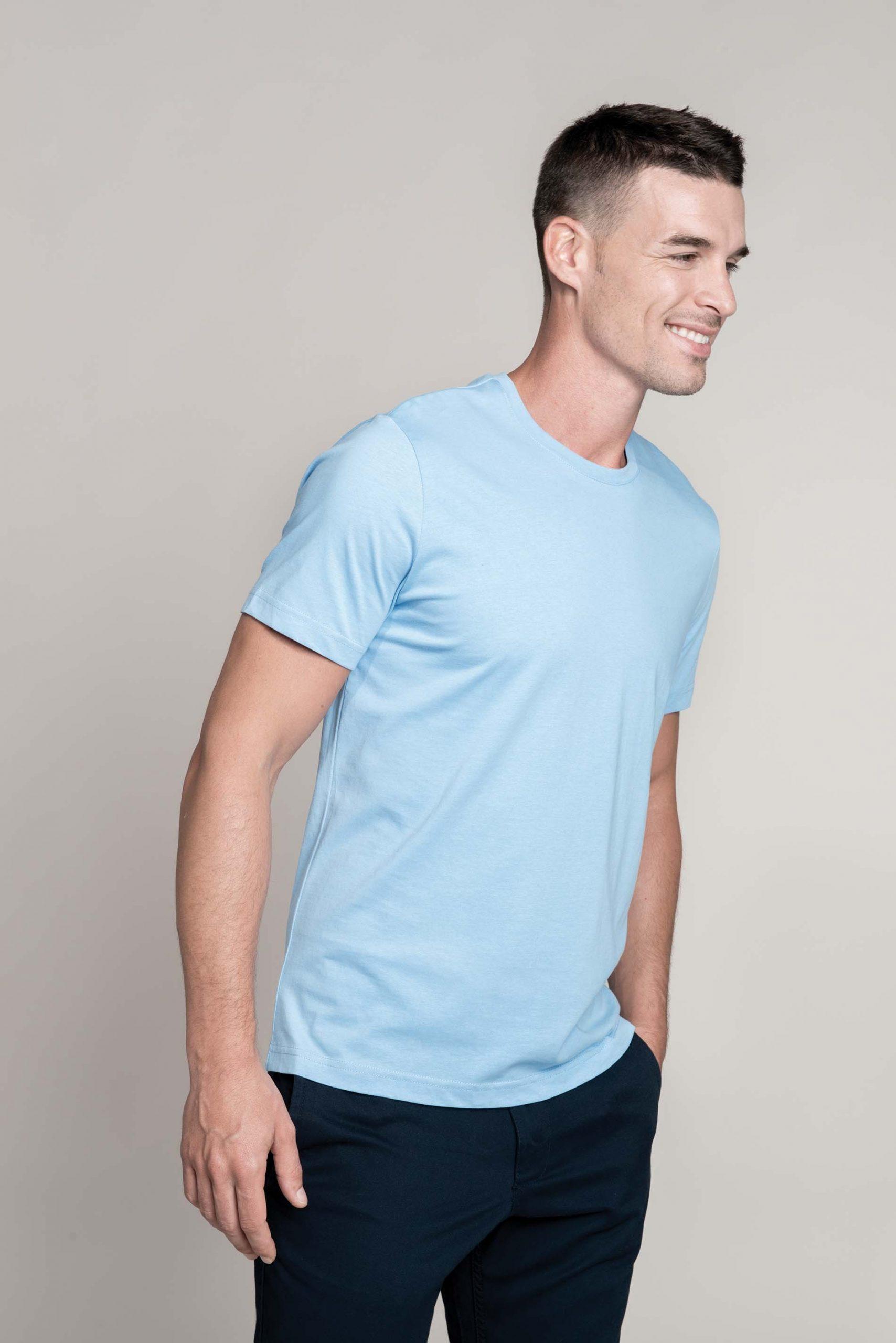 T-shirt Van Gekamd Enzymbehandeld Katoen Men