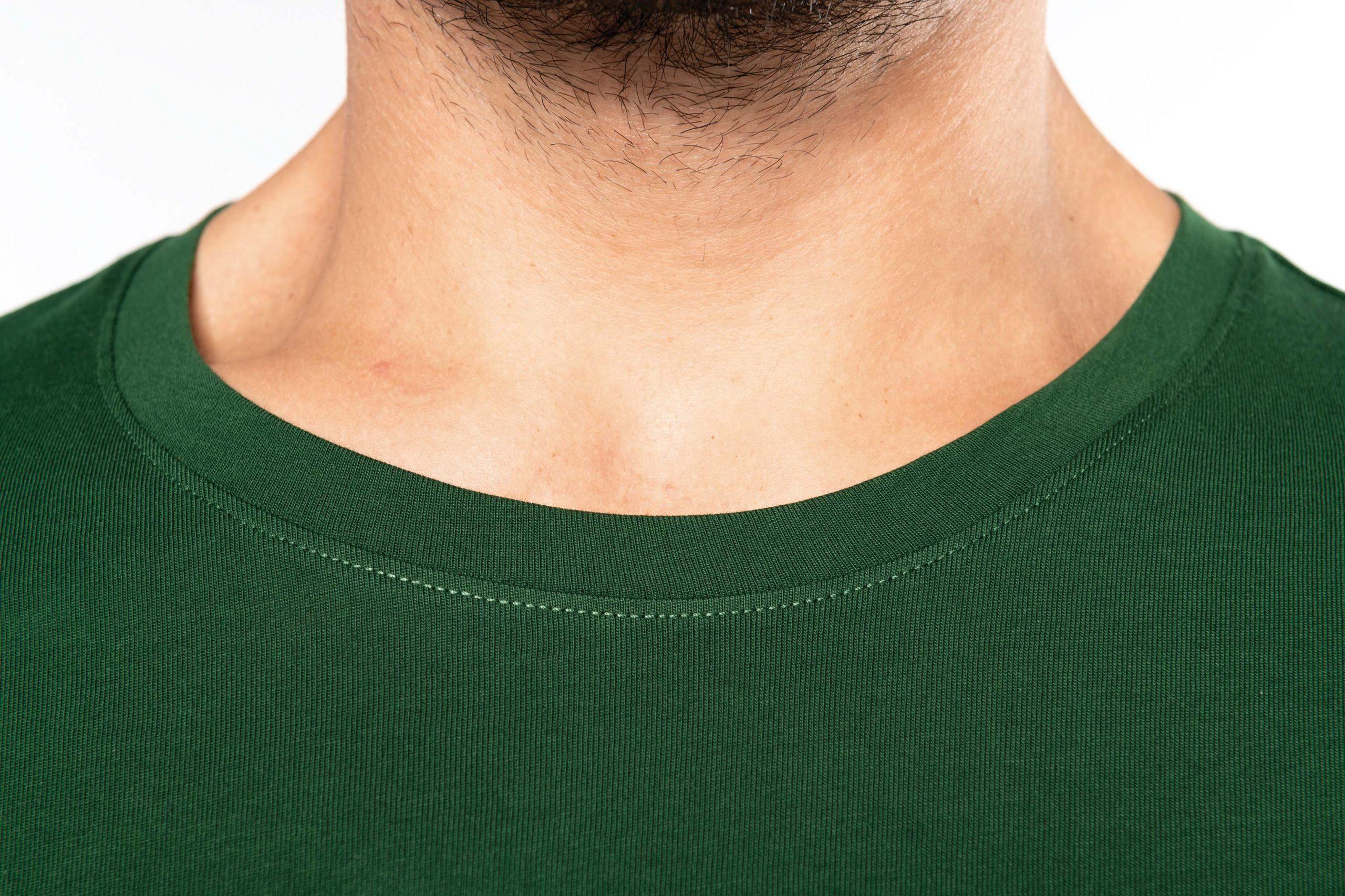 T-shirt Gekamd Enzymbehandeld Katoen Lange Mouw Men