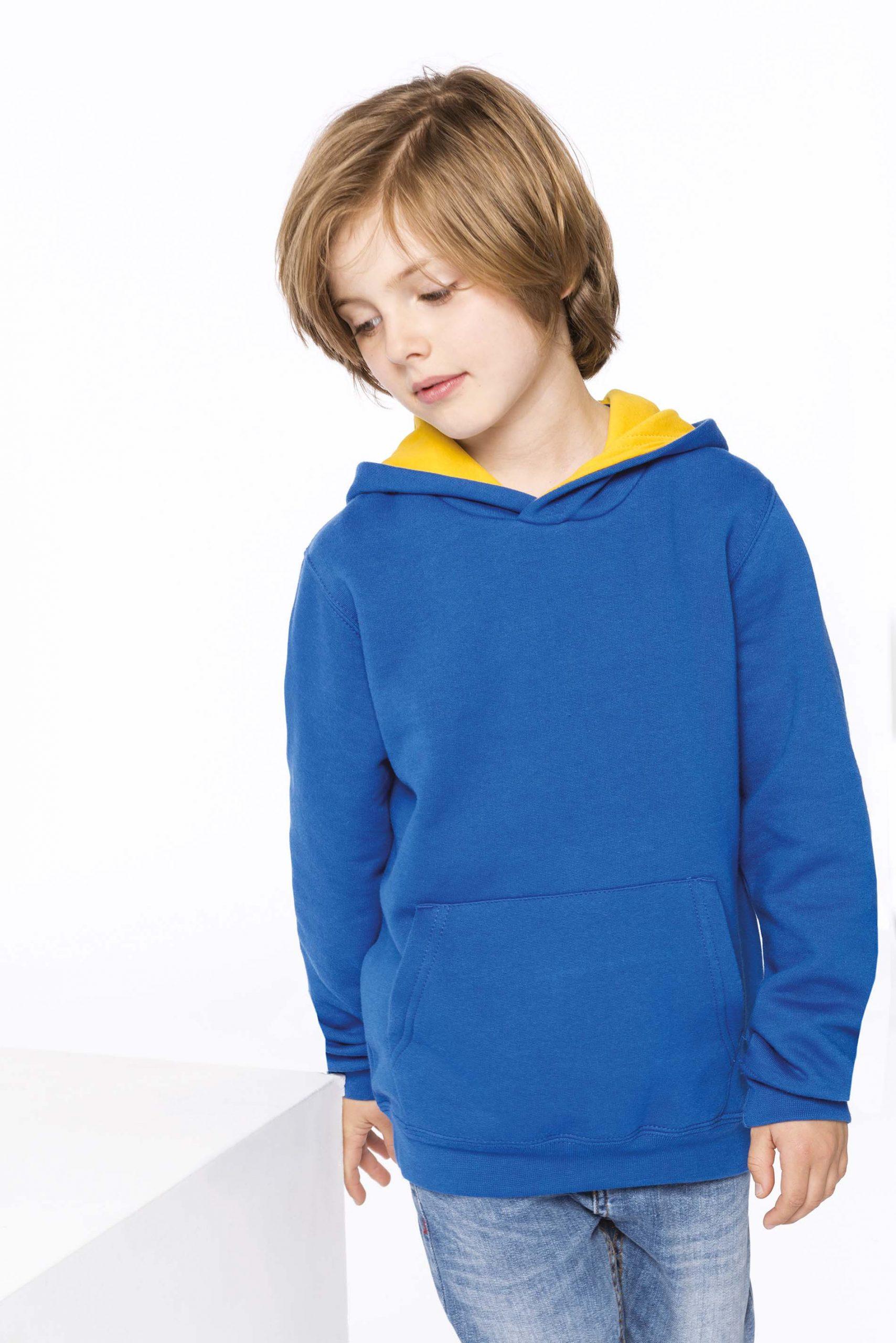 Contrast Hooded Sweatshirt Kids