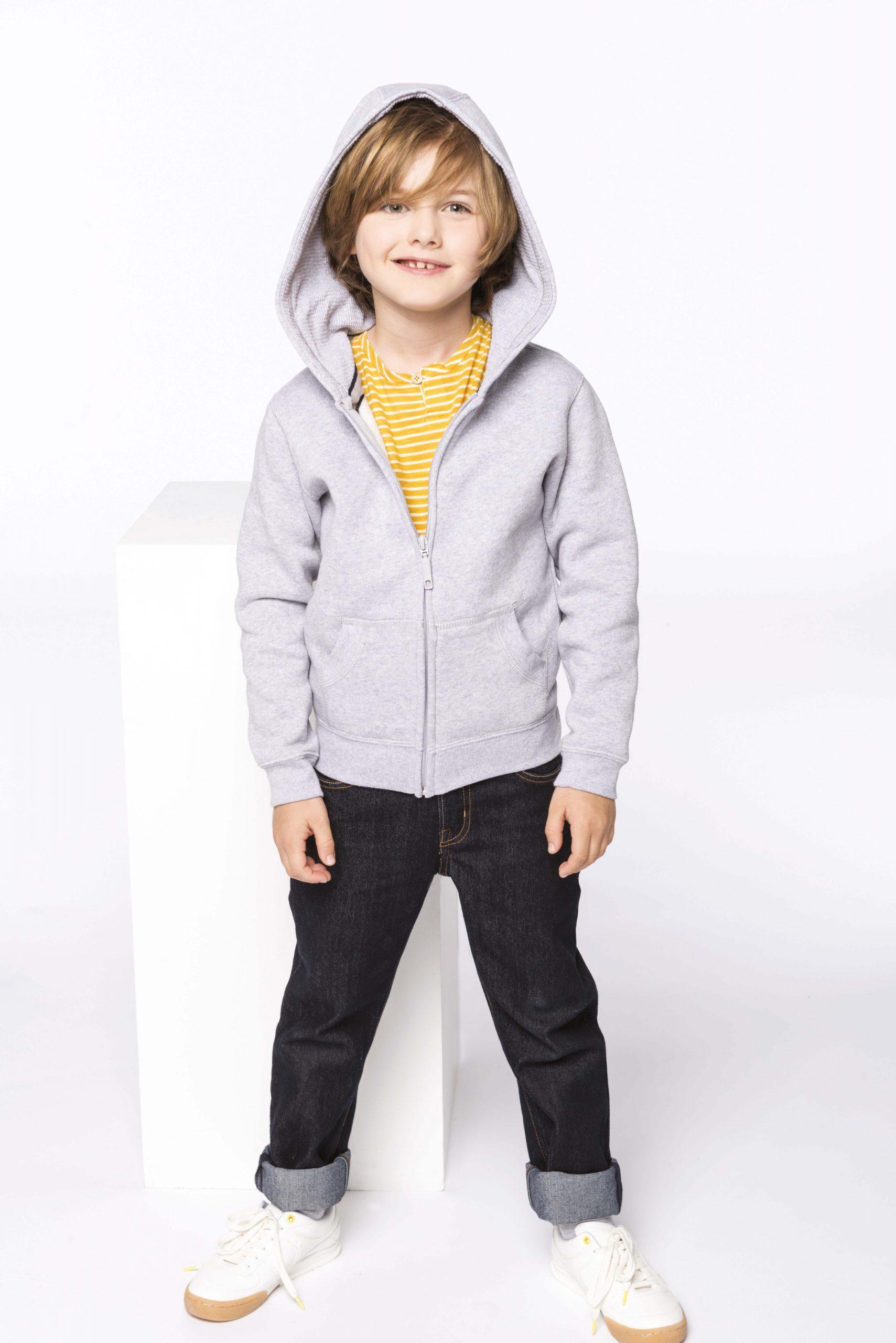 Full Zip Hooded Sweatshirt Kids