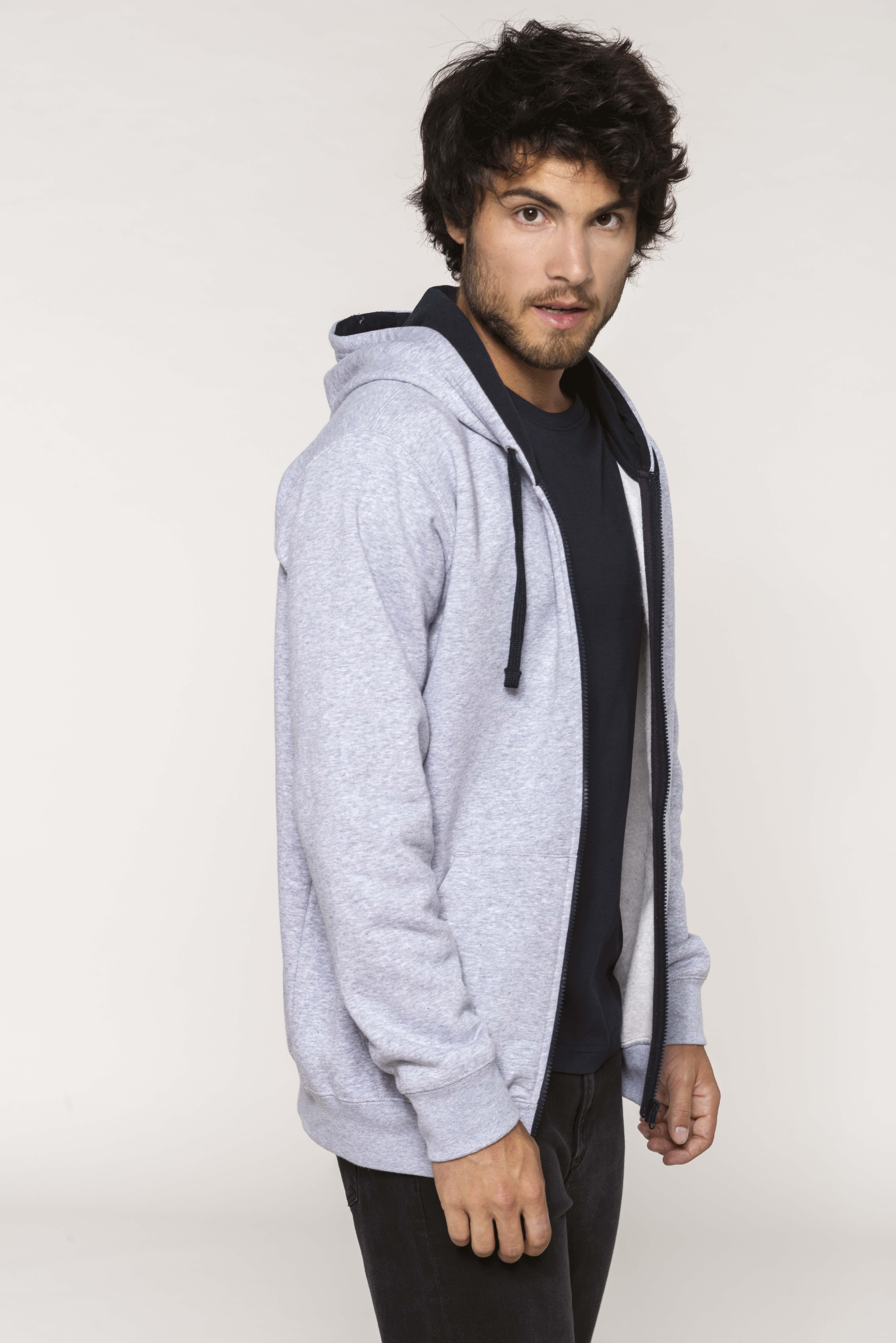 Hooded Zipped Sweater Men