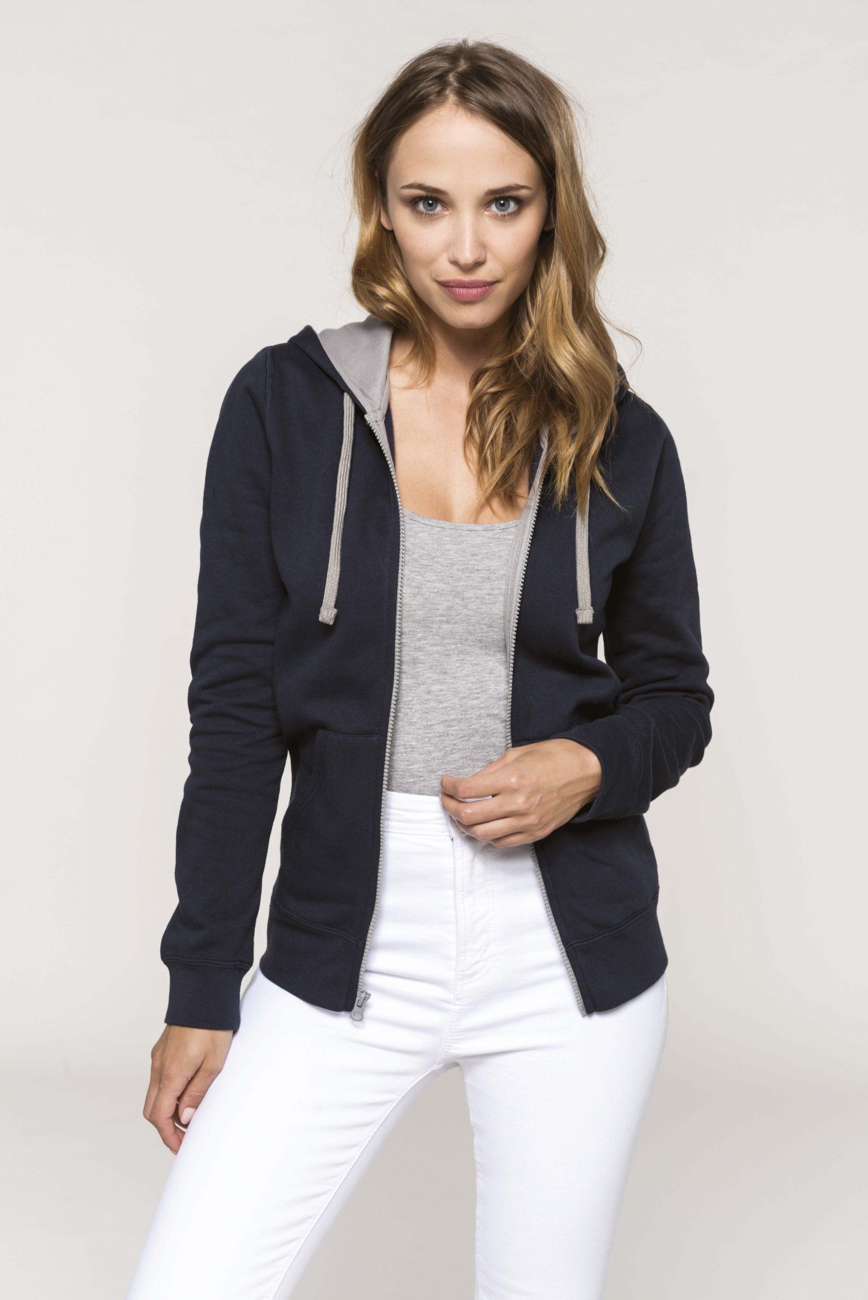 Hooded Zipped Sweater Women
