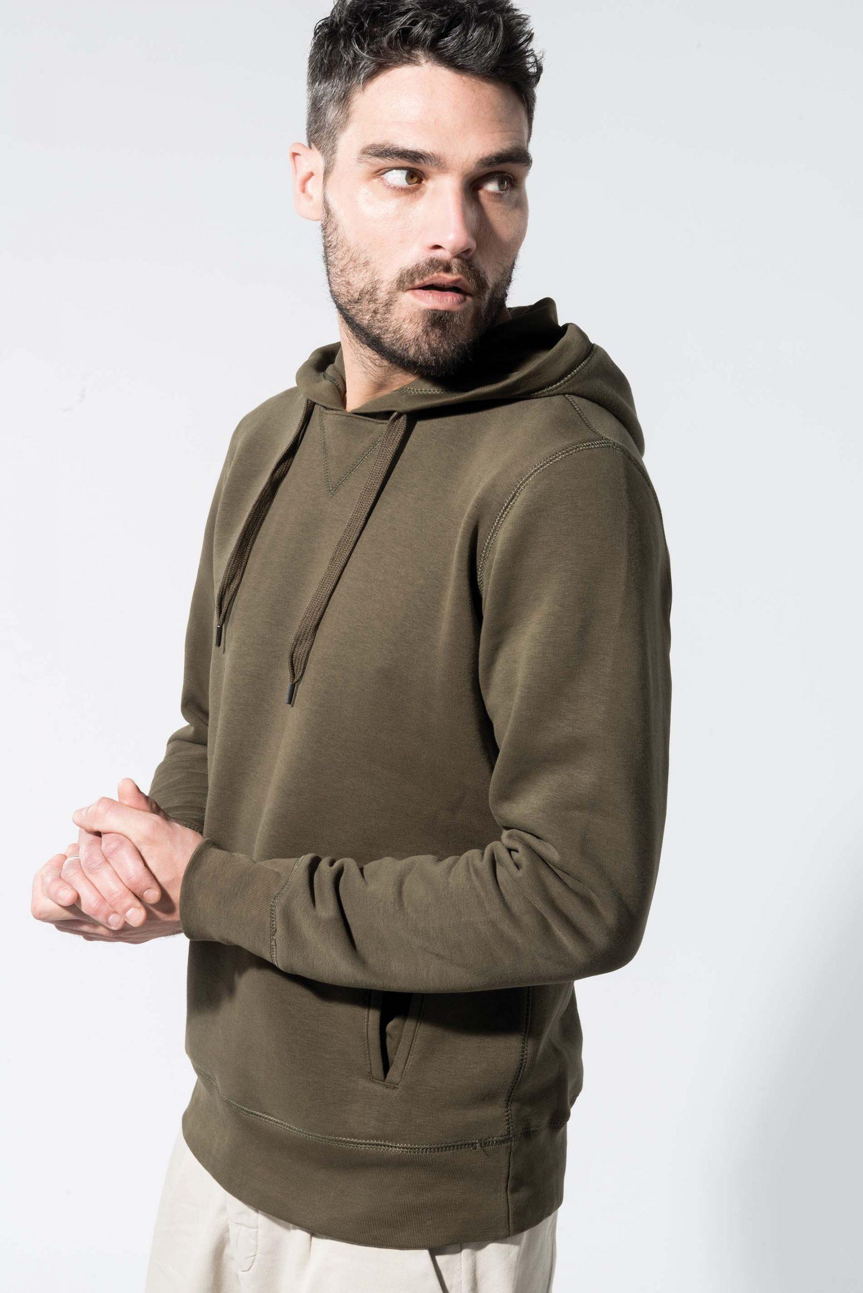Biologisch Katoen Hooded Sweater Men