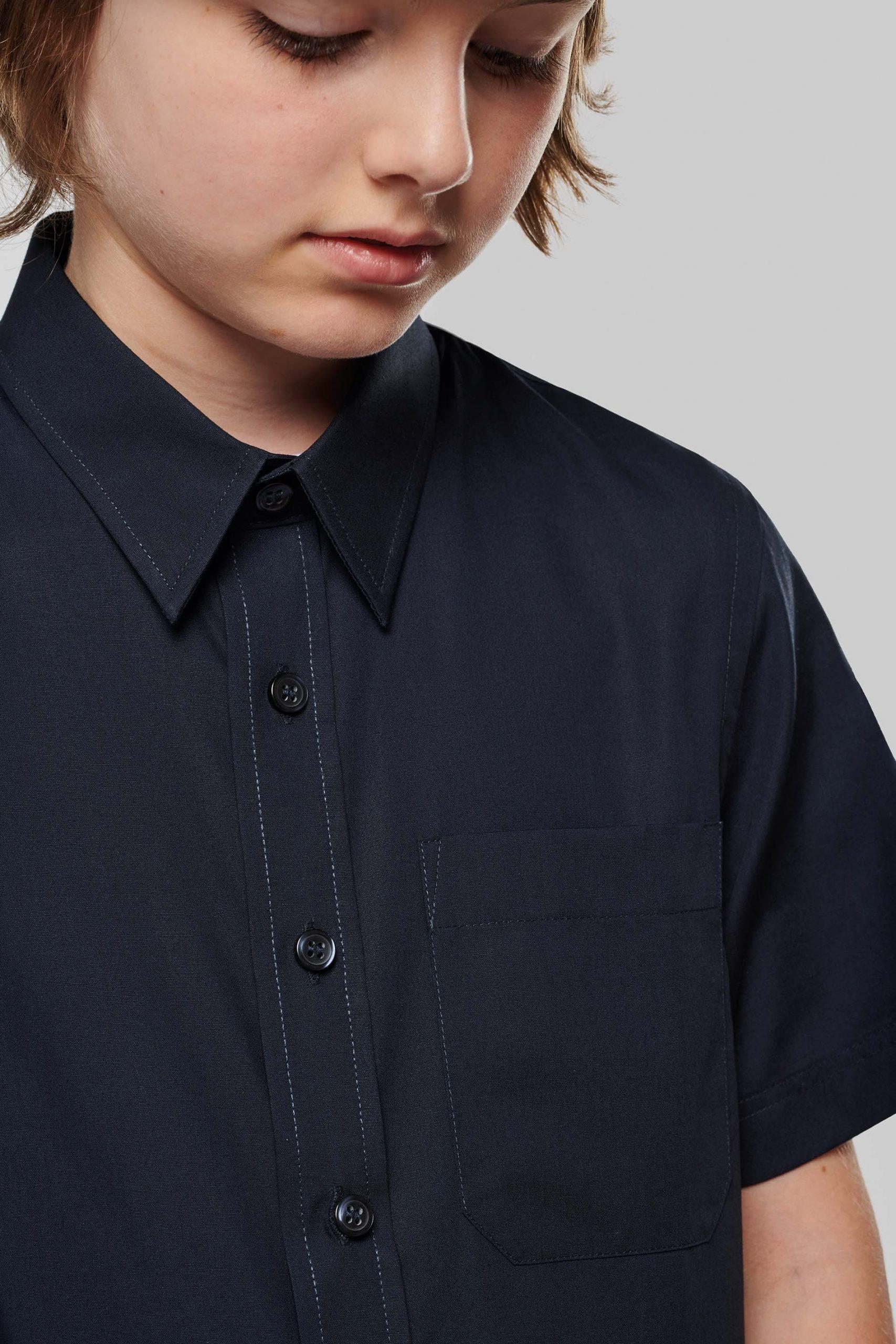 Short Sleeves Poplin Shirt Kids
