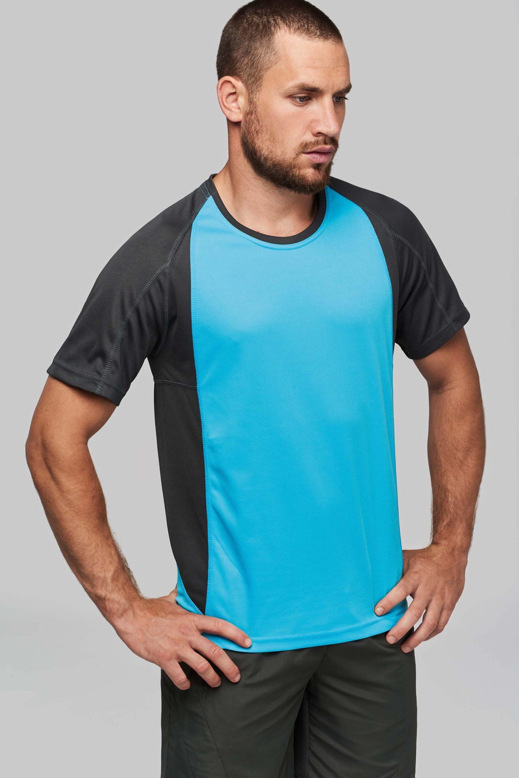 Bicolour Short Sleeve Crew Neck T-shirt Men