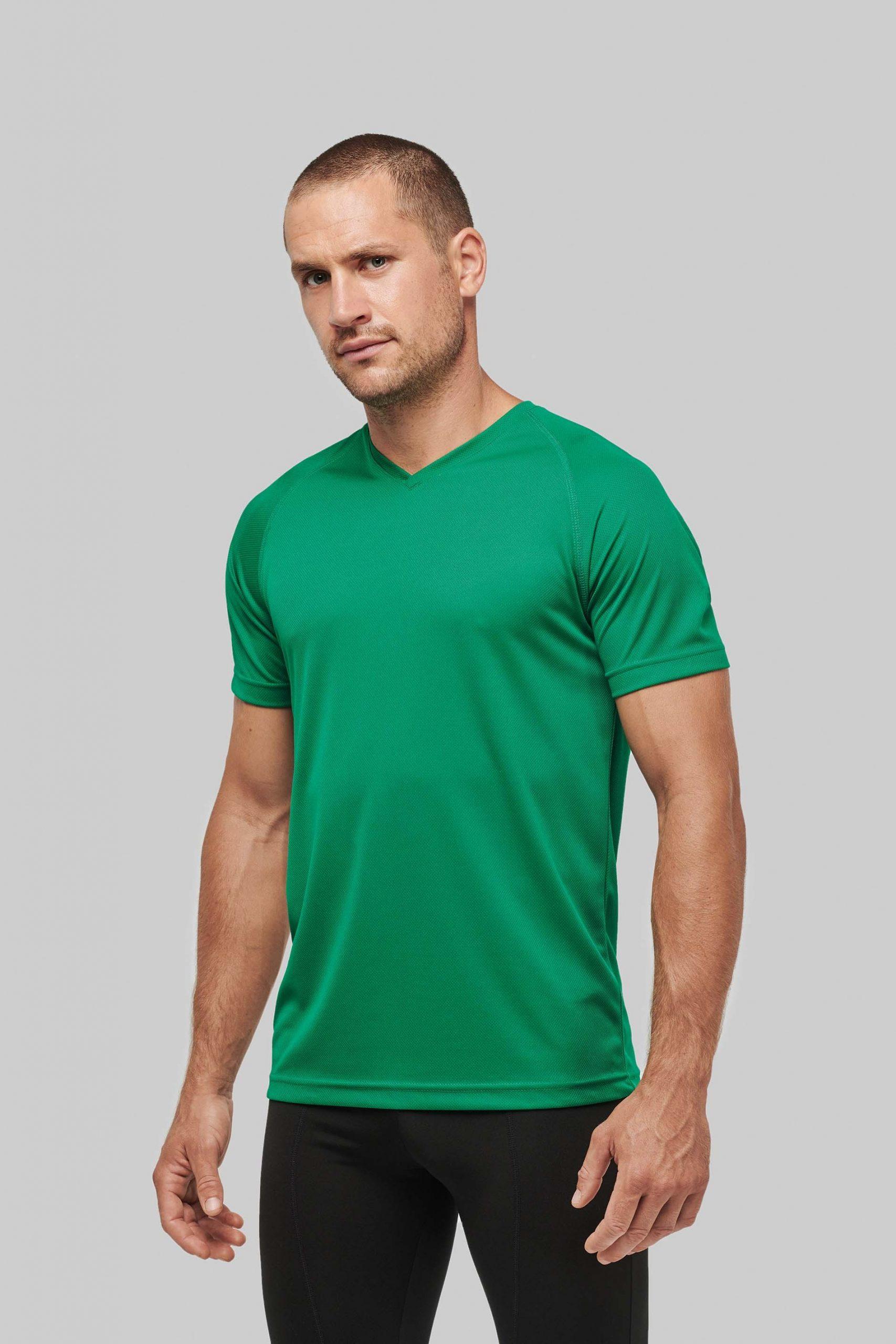 Performance Functioneel Sport T-shirt Met V-hals Men