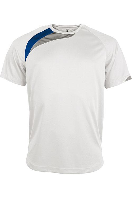 White - Sporty Royal Blue - Storm Grey