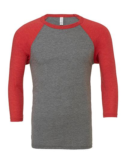 Grey / Red Triblend (heather)